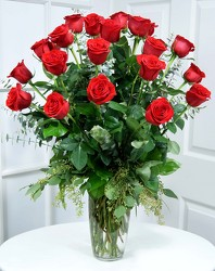 24 Gorgeous Long Stem Red Roses Internet Special from Dallas Sympathy Florist in Dallas, TX