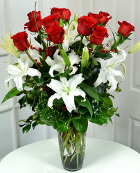 Holiday Roses & Lilies from Dallas Sympathy Florist in Dallas, TX