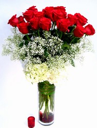 To Her With Love     24  Long Stem Roses  Wow! from Dallas Sympathy Florist in Dallas, TX