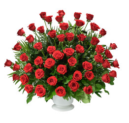 Red Splendor Urn Arrangement from Dallas Sympathy Florist in Dallas, TX