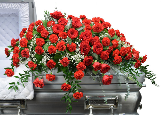 River of Roses from Dallas Sympathy Florist in Dallas, TX Click Here For Larger Image