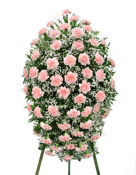 Carnation Easle Spray from Dallas Sympathy Florist in Dallas, TX