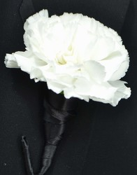 Carnation Boutonniere from Dallas Sympathy Florist in Dallas, TX