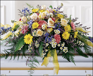 Heavenly Scented Casket Spray from Dallas Sympathy Florist in Dallas, TX