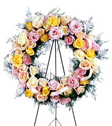 Vibrant Sympathy Wreath from Dallas Sympathy Florist in Dallas, TX