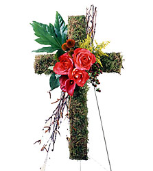 The Living Cross Easel from Dallas Sympathy Florist in Dallas, TX
