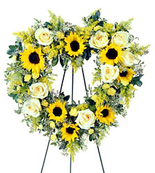 Forever Heart Wreath from Dallas Sympathy Florist in Dallas, TX