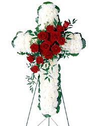 Floral Cross Arrangement from Dallas Sympathy Florist in Dallas, TX