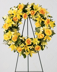 Ring of Friendship Wreath Sympathy  from Dallas Sympathy Florist in Dallas, TX