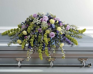 Wild Flower Casket Spray from Dallas Sympathy Florist in Dallas, TX