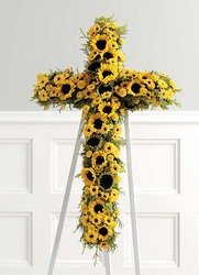 Sunflower Cross from Dallas Sympathy Florist in Dallas, TX