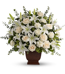 Teleflora's Loving Lilies and Roses Bouquet from Dallas Sympathy Florist in Dallas, TX