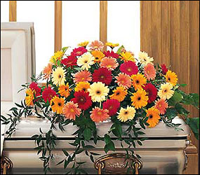 Uplifting Thoughts Casket Spray from Dallas Sympathy Florist in Dallas, TX